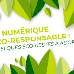 Le numérique éco-responsable : quelques éco-gestes à adopter